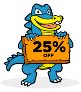 Host Gator 25 % Off