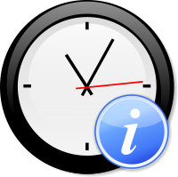Modern clock with information
